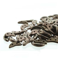 CzechMates 2-Hole Crescent Bead - 3mm x 10mm - Dark Bronze