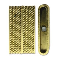 Brazilian Style Magnetic Clasp - 38mm x 20mm - Antique Gold