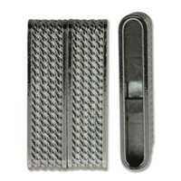 Brazilian Style Magnetic Clasp - 38mm x 20mm - Hematite