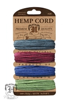 Hemptique Hemp Cord Set - 20# Test - Earthy Pastel