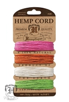 Hemptique Hemp Cord Set - 20# Test - Sizzle