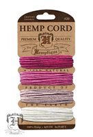 Hemptique Hemp Cord Set - 20# Test - Shades of Ruby
