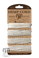 Hemptique Hemp Cord Set - 20# Test - Multi Weight Natural