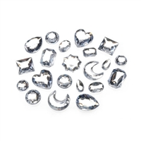 Acrylic Rhinestones Darice  -The Big Bling Gem Value Pack-Clear Shape Assortment