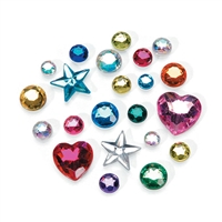 Darice-The Big Bling Gem Value Pack-Multi Color-Round & Shape Assortment