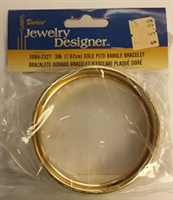 "Darice 3"" Metal Bangle Blank-GOLD"