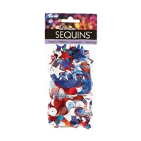 "Dream Sequinsâ""¢- Bright Red, White, & Blue"
