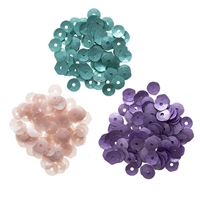 Darice® Matte Sequins: Coral/Teal/Violet, 5mm, 0.15 grams