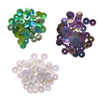 Darice® Pearlescent Sequins: Pearl/Teal/Black, 5mm, 0.15 grams