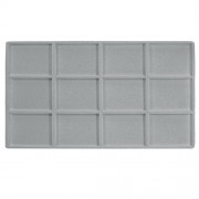 Flocked Plastic Tray Liner Insert- 12 Compartment