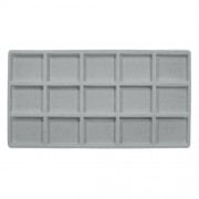 Flocked Plastic Tray Liner Insert- 15 Compartment