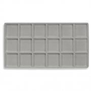 Flocked Plastic Tray Liner Insert- 18 Compartment
