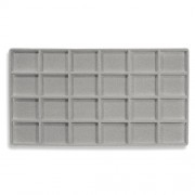 Flocked Plastic Tray Liner Insert- 24 Compartment
