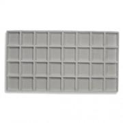 Flocked Plastic Tray Liner Insert- 32 Compartment