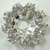 Swarovski Flowerette without center Stone-CRYSTAL/SILVER