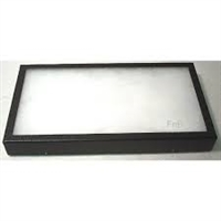 "16"" x 12"" x 1 1/4"" Glass Top Display Box (Black)"