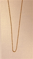 1.2mm Bead Gold Plated Finished Necklace Chain