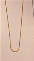 1mm Snake Gold Plated Finished Necklace Chain