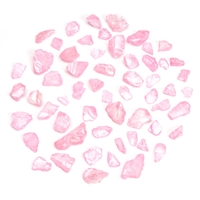Darice® Decorative Sea Glass Chips - Pearlized Pastel Pink - Assorted - 1 pound
