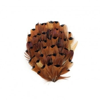Natural Heart Ringneck Pheasant Feather Pad