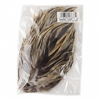 Natural Badger Cream Stripe Hackle Feather Pad