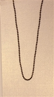Diamond Cut Bead Hematite Plated Finished Necklace Chain