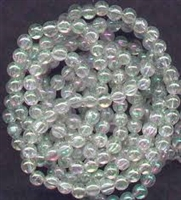 4mm Japanese Quality Acrylic Pearls - Clear Iridescent