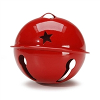 35mm Jingle Bells- Red with star cut out