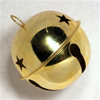 "85mm (3 1/4"") Jingle Bells- Gold with star cut out"