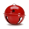 "85mm (3 1/4"") Jingle Bells- Red with star cut out"