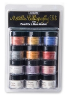 Jacquard Pearl Ex Powdered Pigments -Metallic Calligraphy Set