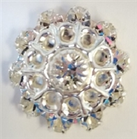 Swarovski Large Flowerette without Stones-CRYSTAL/SILVER