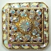 Loaded Square-20mm-CRYSTAL AB/GOLD