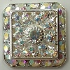 Loaded Square-20mm-CRYSTAL AB/SILVER