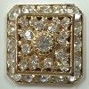 Loaded Square-20mm-CRYSTAL/GOLD