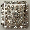 Loaded Square-20mm-CRYSTAL/SILVER