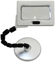 HAWK Table Top Magnifier Lamp-4 X 2 Inch Lens With 2.5 & 5X Power & Flexible Neck