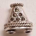 Marcasite Small 2 to 1 Cone End