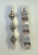 Marcasite 2-Hole Scalloped Spacer Bar