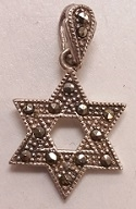 Marcasite Star of David Charm/Pendant