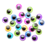 10mm Moveable Eyes - Metallic Colored