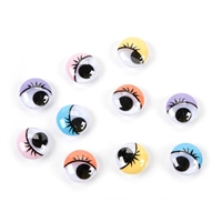 Darice® Moveable Eyes - Comic with Lashes - 15mm - 10 pieces