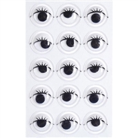 Sticky Back Eyes with Lashes-10mm