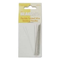 BeadSmith Flexible Twisted Wire Beading Needles - Fine, 50pc