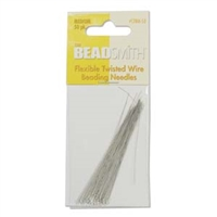 BeadSmith Flexible Twisted Wire Beading Needles - Medium, 50pc