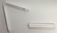 White Plastic Barrette Blanks 2""