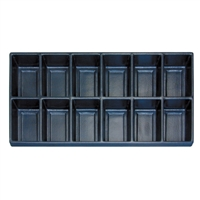 Plastic Tray Liner Insert - 12 Compartment