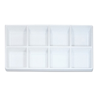 Plastic Tray Liner Insert - 8 Compartment