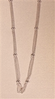 3 Strand Silver Plated Curb Finished Necklace Chain