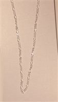 Figaro Silver Plated Finished Necklace Chain
